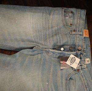Levis Original 501 jeans. Custom designed from Cal